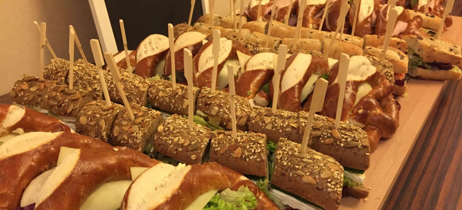 belegte Brezeln - Sandwiches